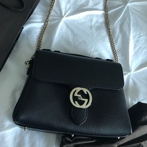 Gucci Interlocking GG Top Handle Shoulder Bag